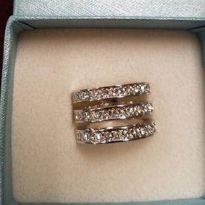 Touchstone Crystal by Swarovski Triple Threat ring